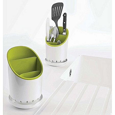 Cutlery Drainer & Organizer green