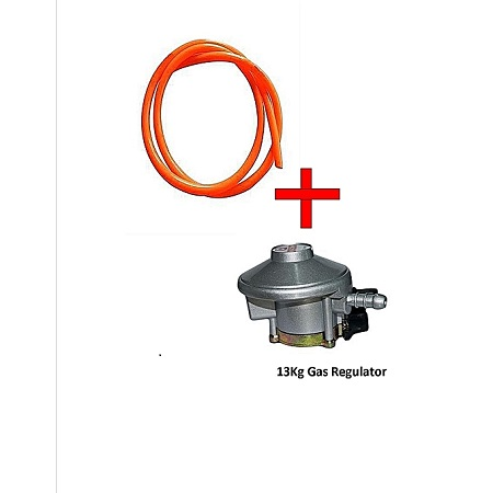 Gas Delivery Pipe Plus 13Kg Gas Regulator silver&orange
