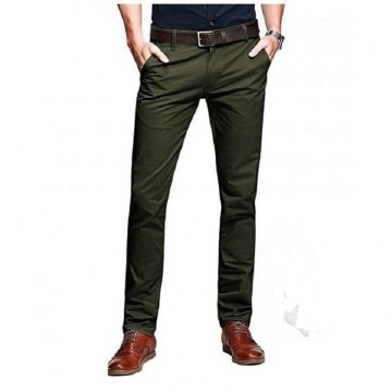 Khaki Trouser for Men for Official or Casual Wear- Jungle Green