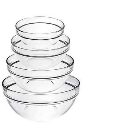 LUMINARC Set of 4pieces Round Glass Bowls- Crystal