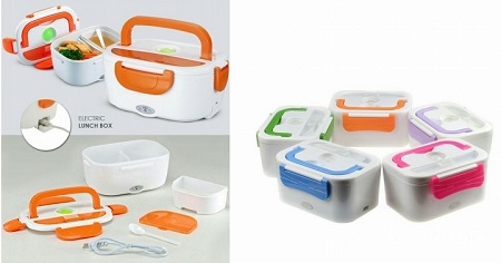 Portable Travel USB Charging Electric Lunch Box & Food Warmer