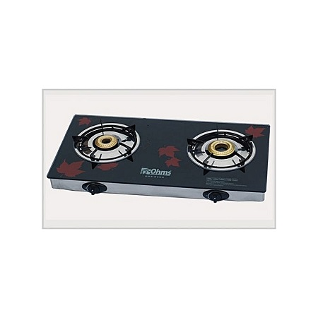 OHMS Two Burner Gas Stove Back + Red