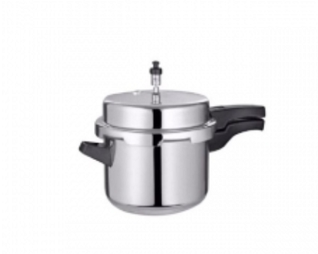 Stainless Steel Pressure Cooker- 5 Litres Silver