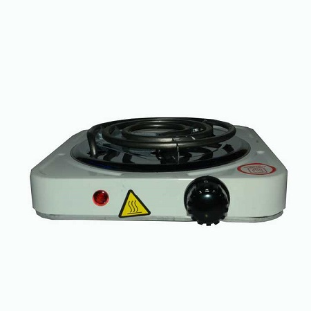 Electric Hot Plate Single Coiled Burner- White