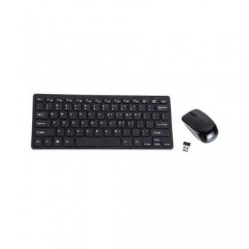 Unique Mini Wireless Keyboard & Mouse - Black