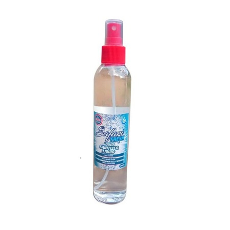 Safari Fresh 250ml 70% Alcohol Hand Sanitizer Liquid Spray