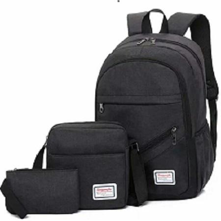 3 piece laptop bags black one size