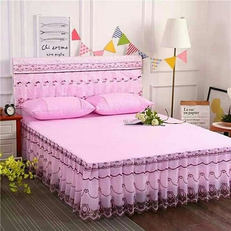 Bed skirts pink 4 by 6