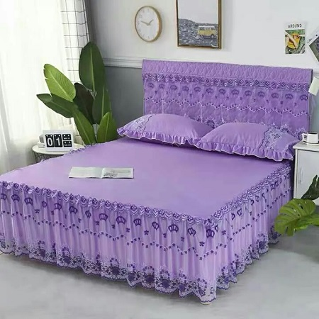 Bed skirts purple 4 by 6