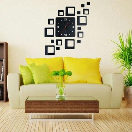 DIY wall clocks black One size