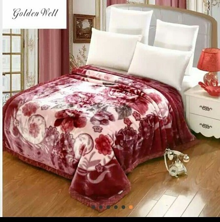 Double sided Soft blanket Multicolour 4 by 6