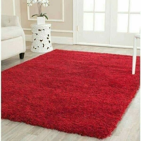 Fluffy carpets 5ft by 8ft Red
