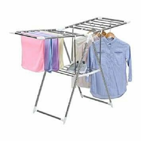 Portable clothes hanging rack Silver