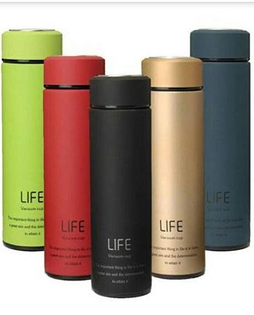 Portable vacuum flasks black one size