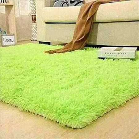 Soft fluffy carpets 5 by 7 Inches Green