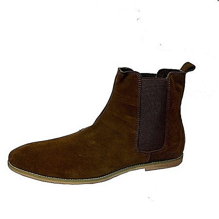 Brown Quality Leather Chelsea Boots With Rubber Sole