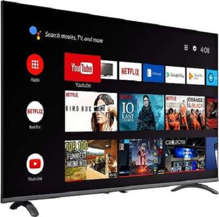 EEFA 55 Inch Smart 4K TV - Black