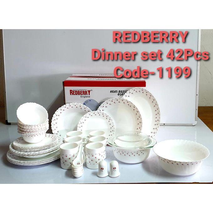 Redberry Dinner Set - 42 Pcs