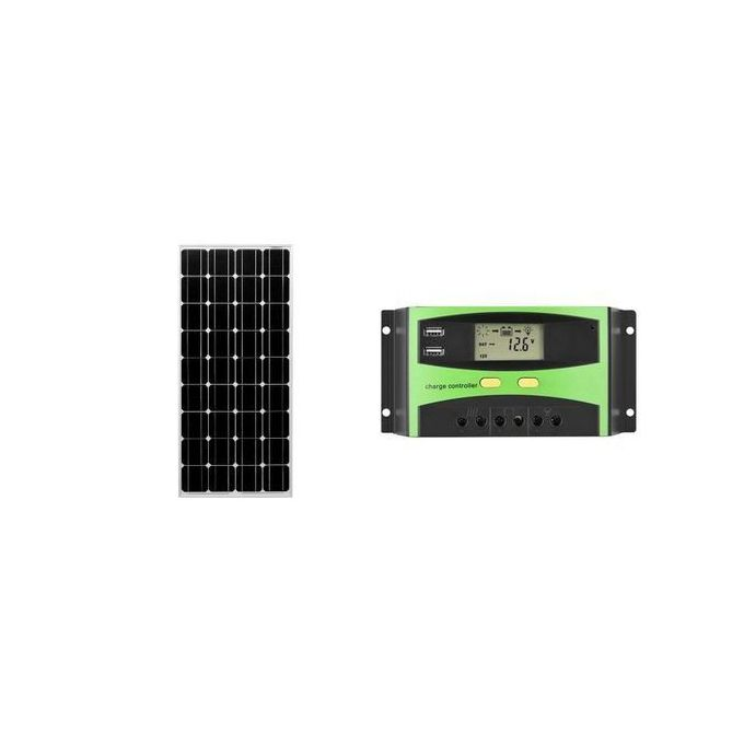 Solar Panel 60w + Charge Controller-10A