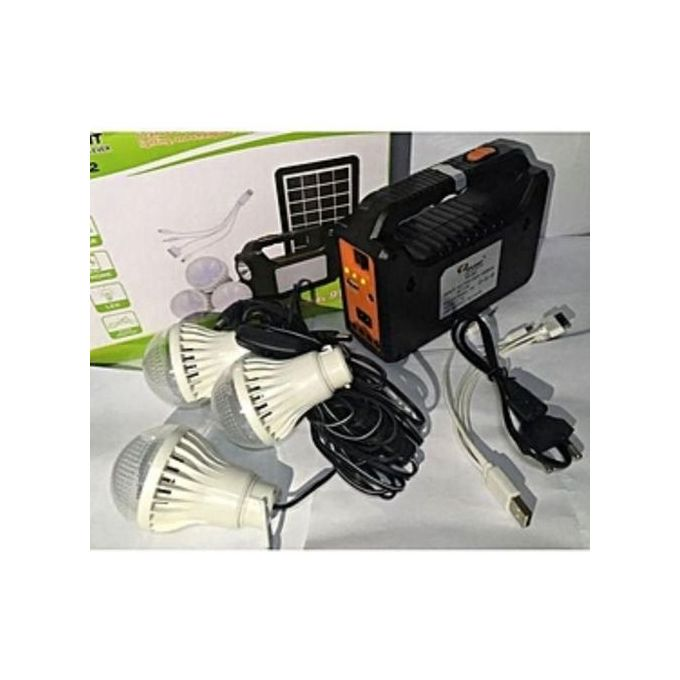 Dp Light Solar Lighting System With 3 Bulbs And Panel