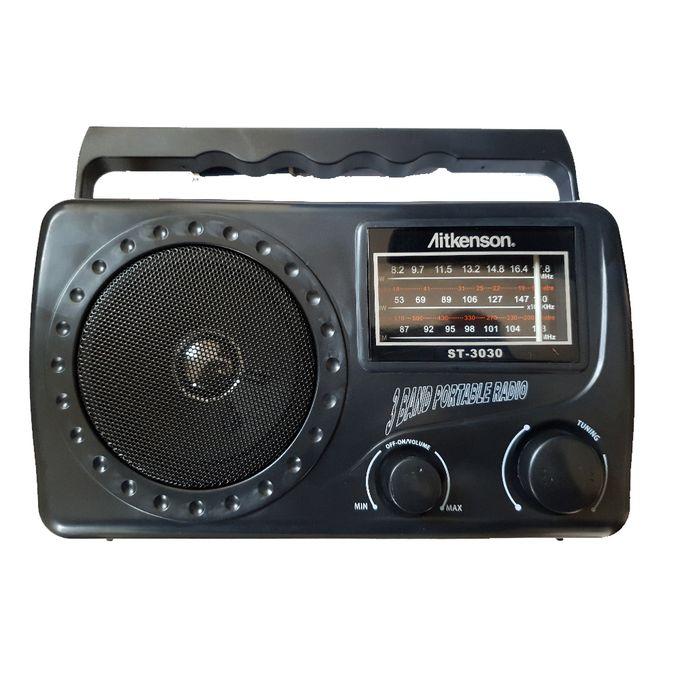 Aitkenson ST-3030 - Portable FM/AM/SW 3 Band Radio