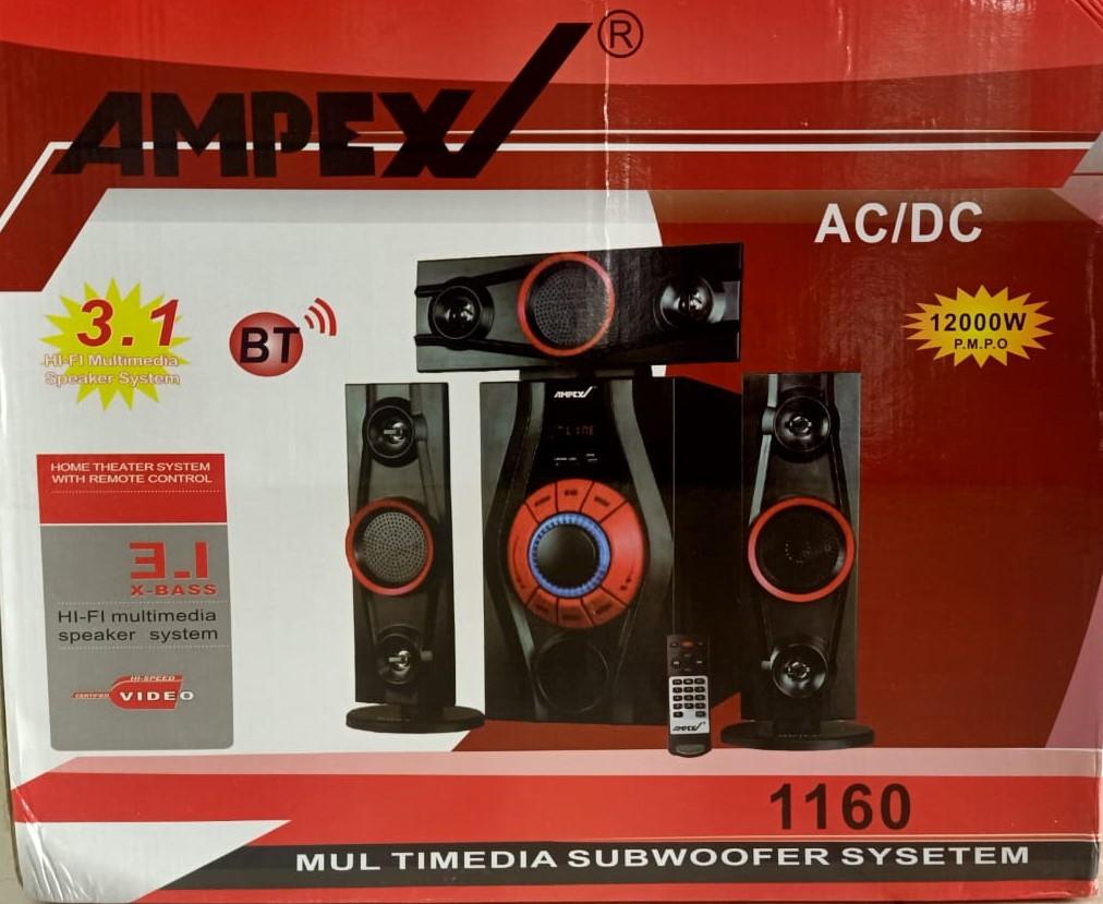 Ampex 1160-3.1 Ch- Bluetooth SPEAKER- /USB/SD/FM 12000W WOOFER
