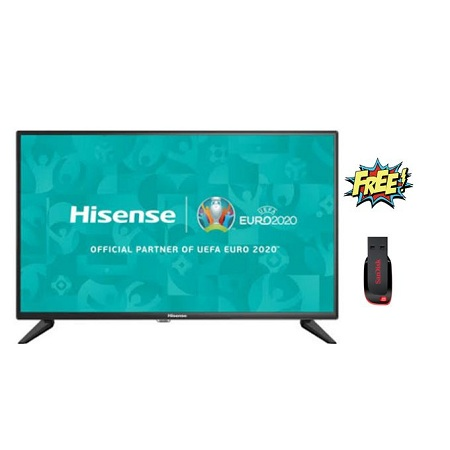 Hisense 32 Smart Android TV - HD TV- Black + FREE 16gb Flashdisk