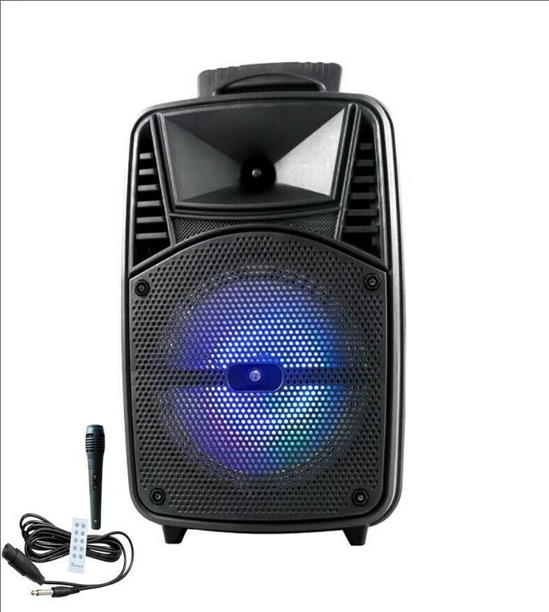 KTS 1089A/B/C FM/USB Karaoke Wireless Bluetooth Karaoke Speaker 8″ With Microphone