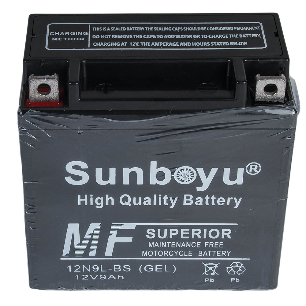 Maintenance free  motorcycle battery - 12V9AH