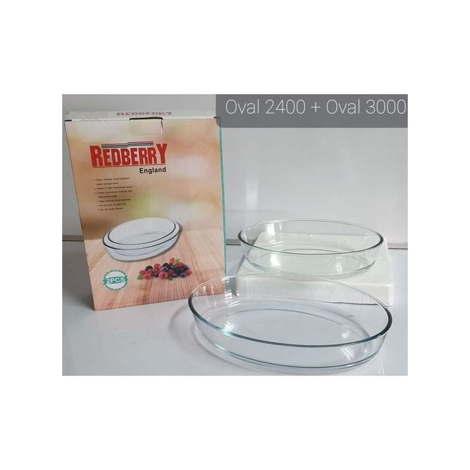 Oval Glass Baking Tins