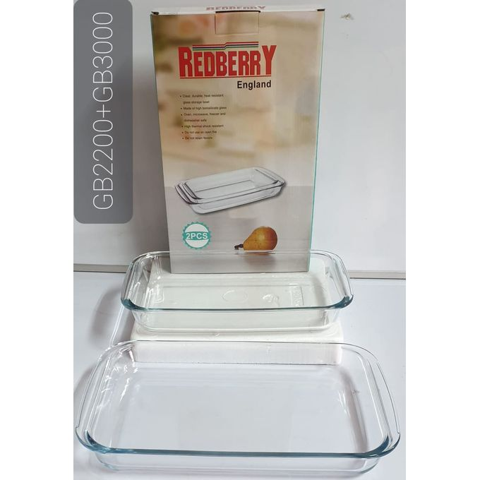 Redberry Rectangle Glass Baking Tins