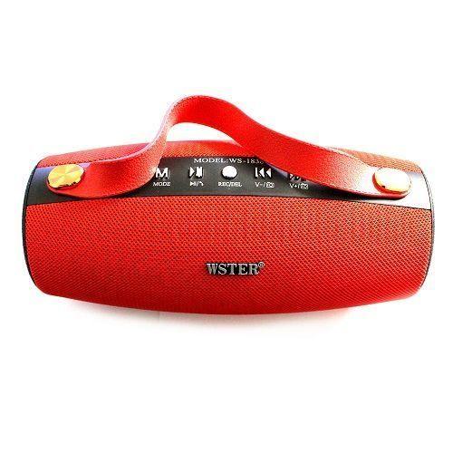 Wster Ws1838 Bluetooth Speaker - Red