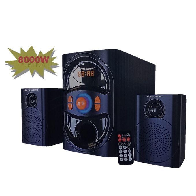Royal Sound RS004 2.1CH Subwoofer System-BT,FM,USB/SD-FM