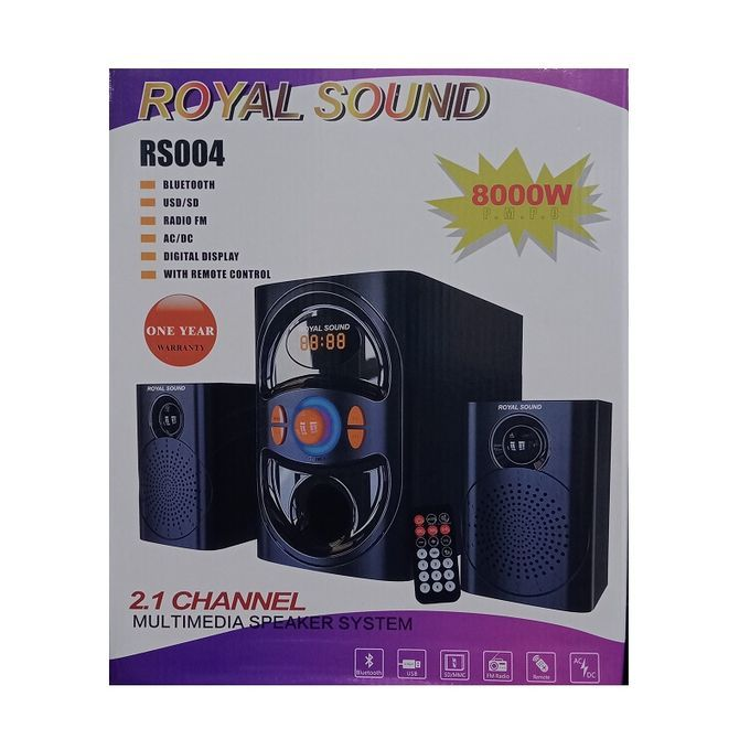 Royal Sound SUB WOOFER HI-FI SPEAKER SYSTEM-USB,FM,BT-8,000W