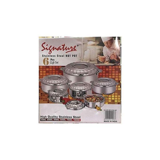 Signature 6 Pieces Stainless Steel Hot Pots/Casserole