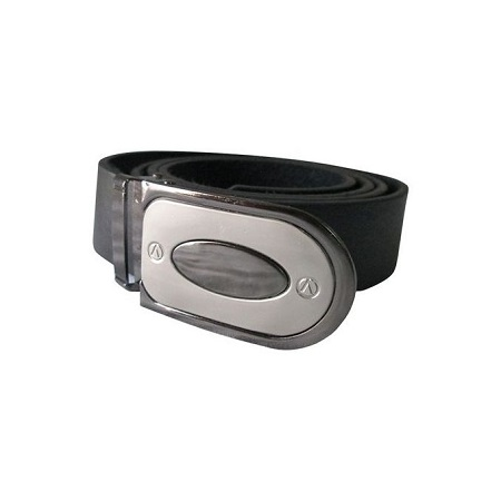 Fashion Men's Eye Leather Belt Casual Business- Black