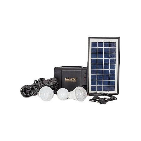 GDLITE Solar Lighting System Black