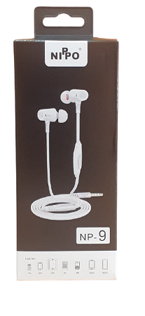 Nippo 9 Magnet Stereo Earphones With Mic