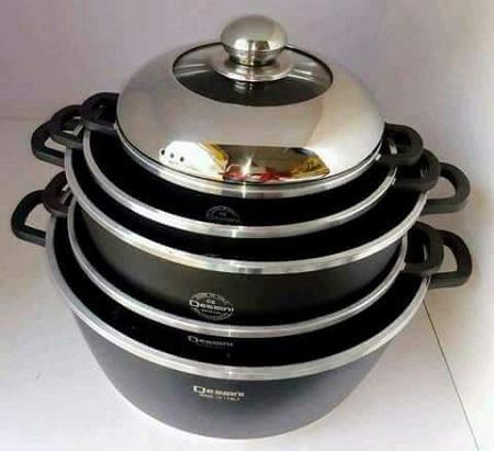 Dessini 10 Piece Non-Stick Cooking Pots