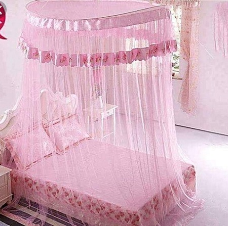Round Mosquito Net - Free Size Pink
