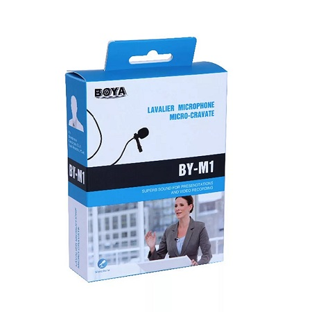 BOYA Lavalier Omni-directional Microphone for  smartphones and cameras