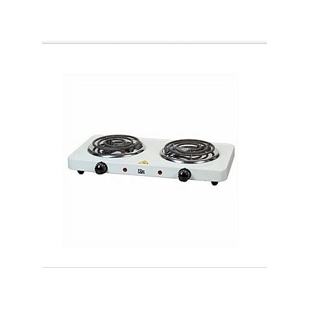 Double hot plate.