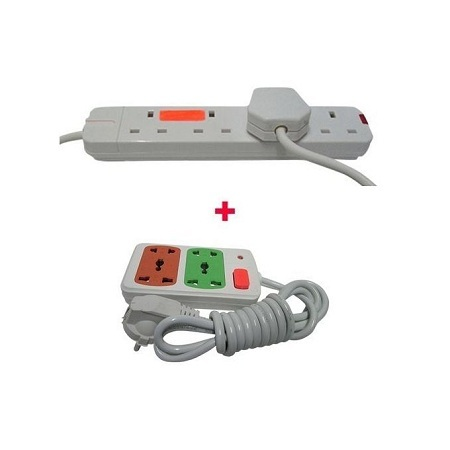 Smart 4 Way With Free Small Extension cable White