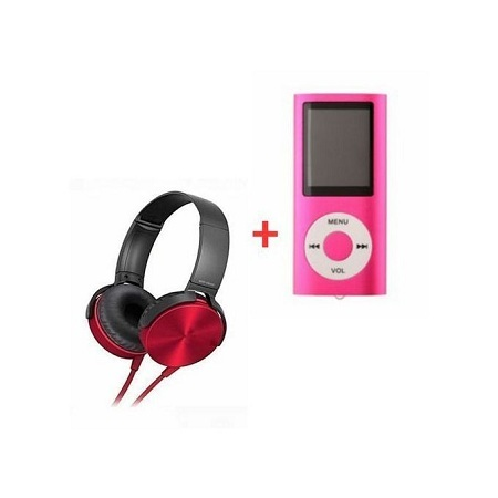 Headphone Central Extra Bass Music Headphones With Mp4 Player