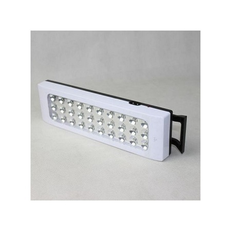LED Rechargeable Lamp White & Black