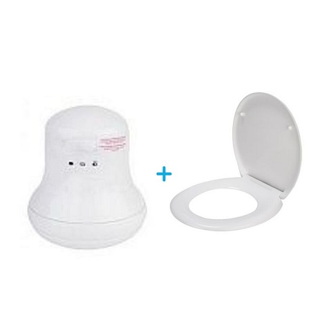 Hg Macros Instant Shower Heater + Free Toilet Seat Cover