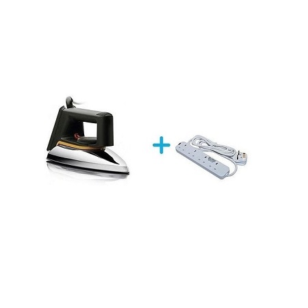 Soarin Stainless Dry Iron Box Plus Free Heavy Duty Power Extension
