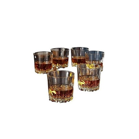 Whiskey Glass Set - 6 Pieces - Crystal Clear