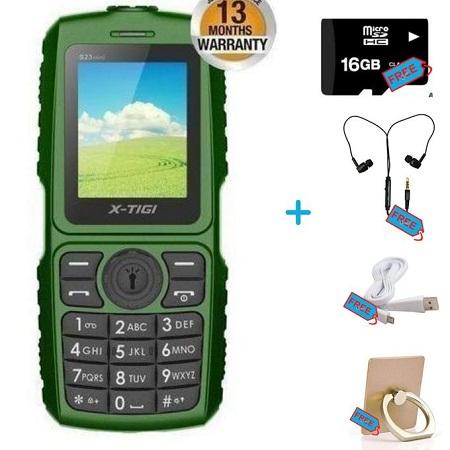 X Tigi FM Radio -2050 MAh + Free 16gb Memory Card, Earphones, Cable, Ring Holder