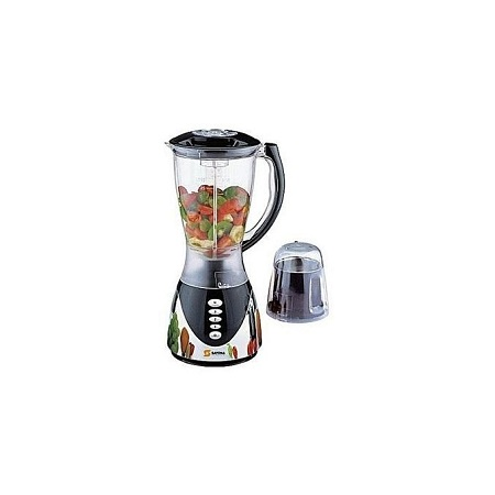 Sayona Blender with Mill & grinder with Metallic Plastic Base - 2 Litres - Black
